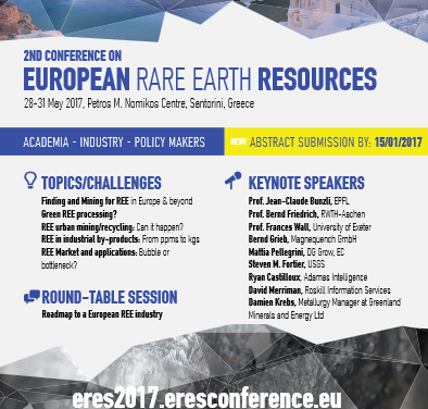 ERES 2017 – The 2nd conference on European Rare Earth Resources